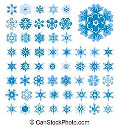 Set of snowflakes for Christmas