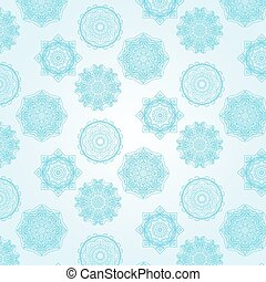 Set of snowflakes on a blue background