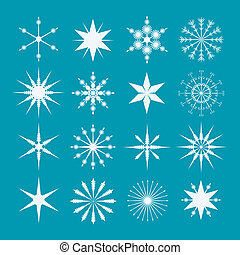 Set Of Snowflakes