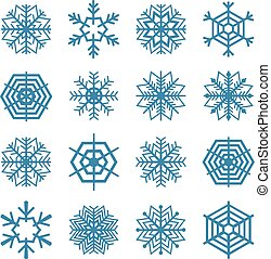 Set of snowflakes, vector illustrat