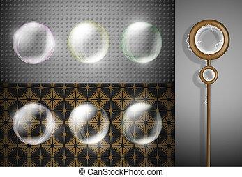 Set of soap bubbles
