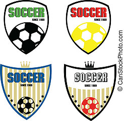 set of soccer badge