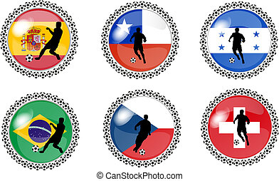 set of soccer buttons 1