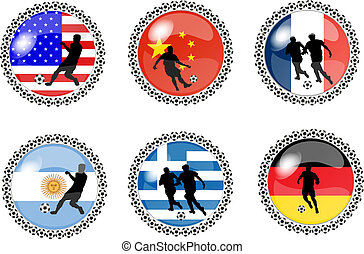 set of soccer buttons 2
