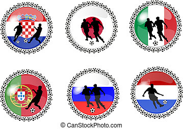set of soccer buttons 3