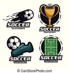 Set of soccer emblems