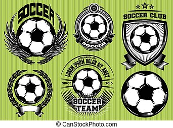 Set of Soccer Football Badge and Lo