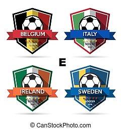 Set of soccer ( football ) badge