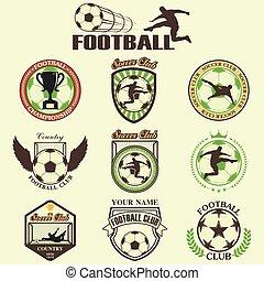 Set of Soccer Football