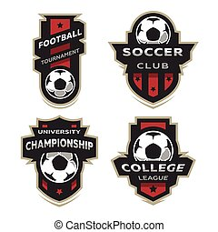 Set of Soccer Football logo, emblem.