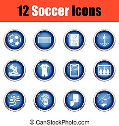 Set of soccer icons.