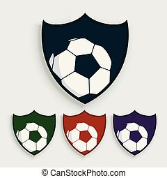 set of soccer or football labels