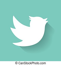 Set of social media icons. Bird