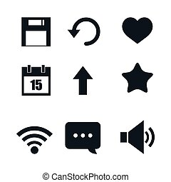 set of social media icons isolated icon design