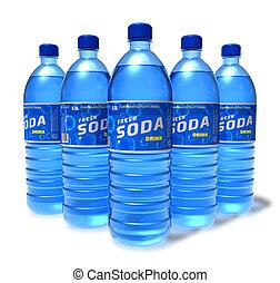 Set of soda drinks