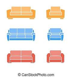 Set of sofas and armchairs