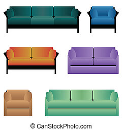 Set of sofas.