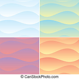 Set of Soft Waving Backgrounds. Vector Graphics
