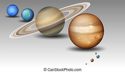 Set of solar system planet