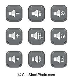 set of sound icon, vector