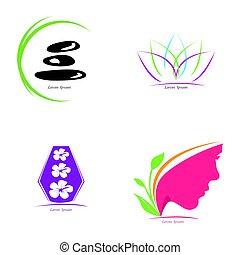 Set of spa logos