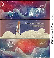 space banner for facebook Poster vector Design