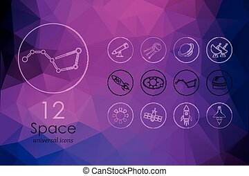 Set of space icons