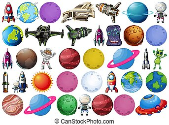 Set of space objects