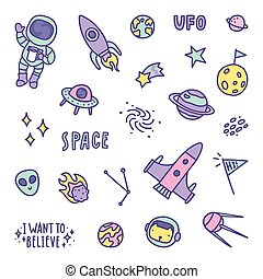 Set of space objects.
