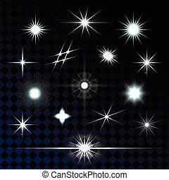 Set of sparkle lights