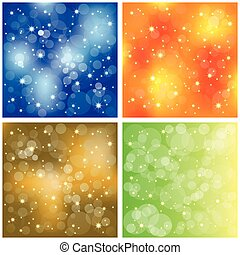 Set of sparkling colorful stardust wallpaper - Abstract set...