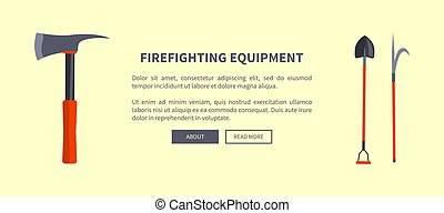 Set of Special Isolated Fire Protection Equipment - Vector...