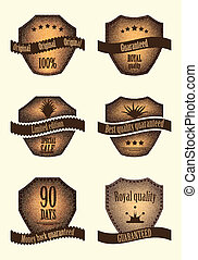 set of special labels with various design