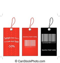 set of special price tags