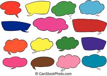 Set of speech balloon illustration