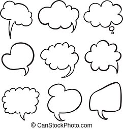 Set of speech bubble collection