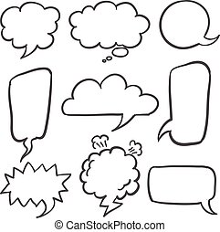 Set of speech bubble style
