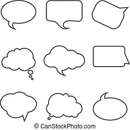 Set of speech bubbles on a white background. Vector illustration