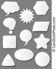 Set of speech bubbles. Vector illustration.
