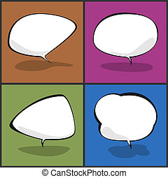 Set of speech bubbles, vector illustration