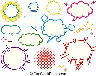 Set of speech bubbles. Vector illustration. Isolated on white background.