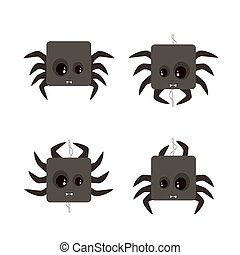 Set of Spider Icons