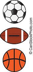Set of Sport Balls Soccer,Football,