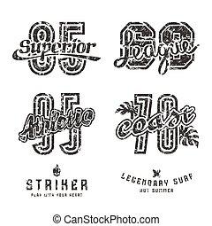 Set of sport design elements for emblems