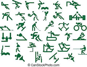 Set of sport icons. Vector illustra
