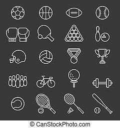 Set of sport icons. Vector Illustrations.