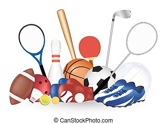 Set Of Sport Object