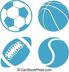 Set of Sports balls Soccer Basketball American Football tennis