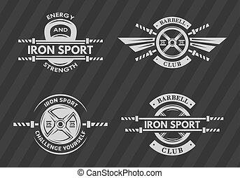 Set of sports emblems, logos, symbols.
