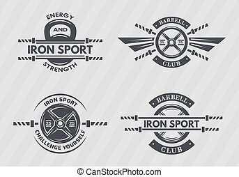 Set of sports emblems.